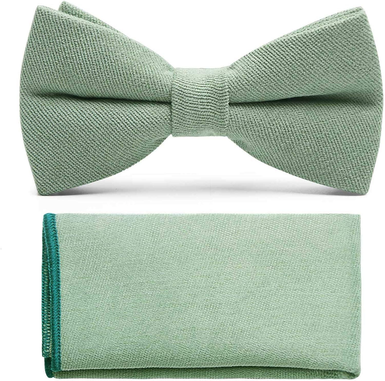 Mumusung Men's Classic Suede Fabric Pre-Tied Bow Tie