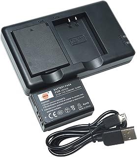 DSTE 2PCS LP-E10(2100maAh/7.4V) Batería Cargador Compatible para Canon 1100D 1200D Rebel T3 Kiss X50