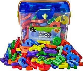 Letras y números magnéticos de juguete, conjunto de 72, de la marca EduKid , color fantasía (Canister)