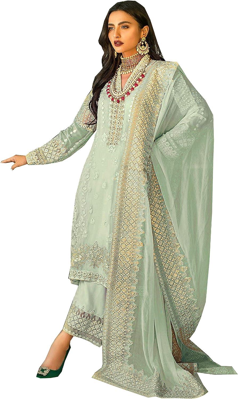 Delisa Wedding Party wear Embroidered Salwar Kameez Indian Dress Ready to Wear Salwar Suit for Women 7112