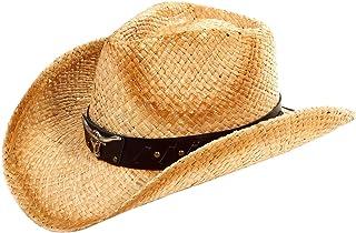 Simplicity Men's & Women's Western Style Cowboy/Cowgirl Straw Hat