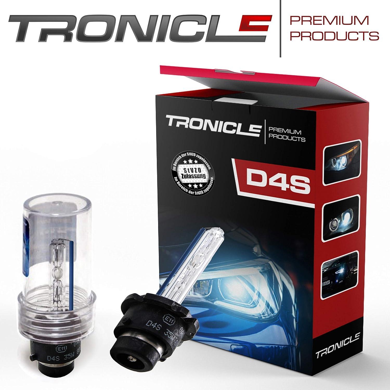 Tronicle Hochwertige Premium Set Xenon Brenner Mit E Prüfzeichen In Der Lichtstärke Von 4300 Kelvin Bis 8000 Kelvin D4s Sun Light 4300 Kelvin Auto