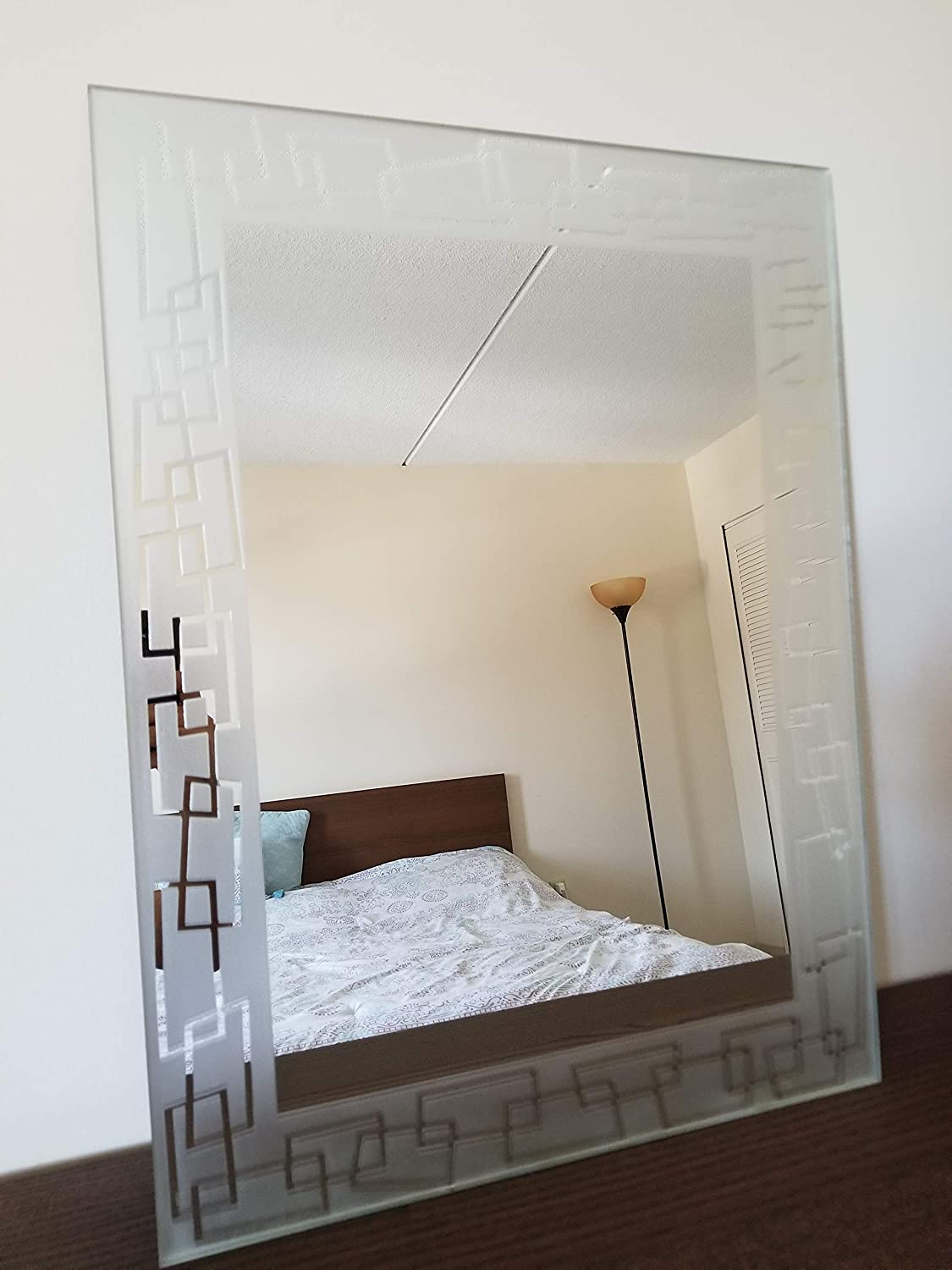 MII HANDICRAFTS Wall Mounted Etched Mirror EM 3 (630X480)