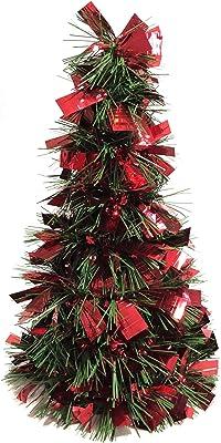 Brite Star Pine Sparkle Cone Tree Tinsel, Red