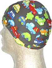 product image for Cars & Trucks Print Toddler Lycra Swim Cap