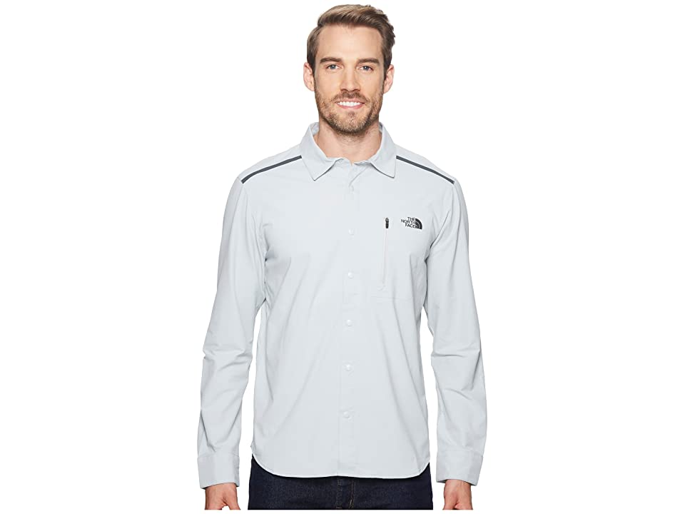 The North Face Alpenbro Long Sleeve Woven Shirt (High-Rise Grey) Men