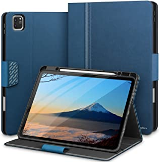 KingBlanc New iPad Pro 12.9 inch Case 2020/2018 with Pencil Holder, Auto Sleep/Wake, Multiple Viewing Angles, PU Leather Magnetic Folio Stand Cover for Apple iPad Pro 12.9 4th/3rd Generation, Blue