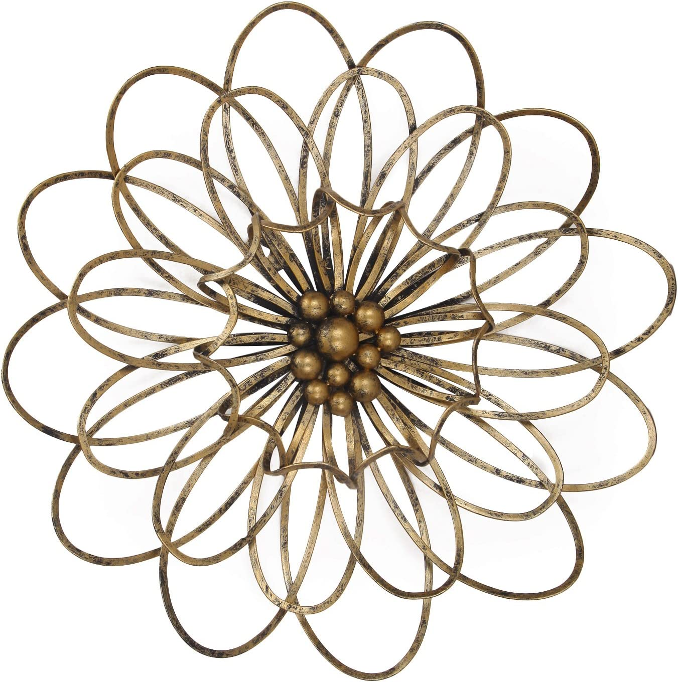 Adeco Flower Urban Design Metal Wall Decor for Nature Home Art D