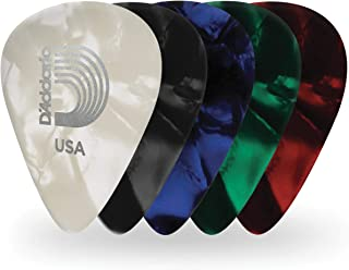 D'Addario Assorted Pearl Celluloid Guitar Picks, 10 Pack,...
