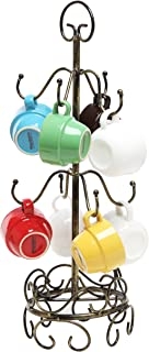 MyGift 8 Hook Bronze Metal Coffee Mug Tree Air Drying Stand/Tea Cup Rack/Glass Holder