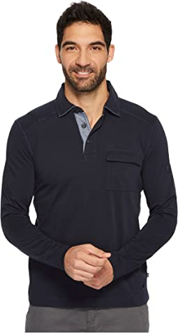 Nautica - Long Sleeve Shipman Polo w/ Pocket