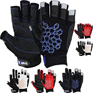 MRX BOXING & FITNESS Sailing Gloves Sticky Palm Gripy Glove Yachting Kayak Dinghy Fishing Short Finger Multi Colors