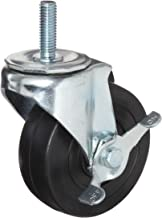 E.R. Wagner Stem Caster, Swivel with Pinch Brake, Soft Rubber Wheel, Delrin Bearing, 100 lbs Capacity, 3