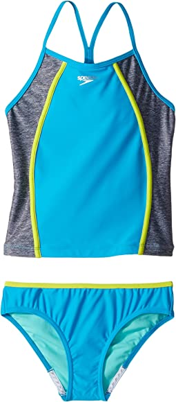 Speedo Kids - Heather Splice Tankini Two-Piece (Big Kids)