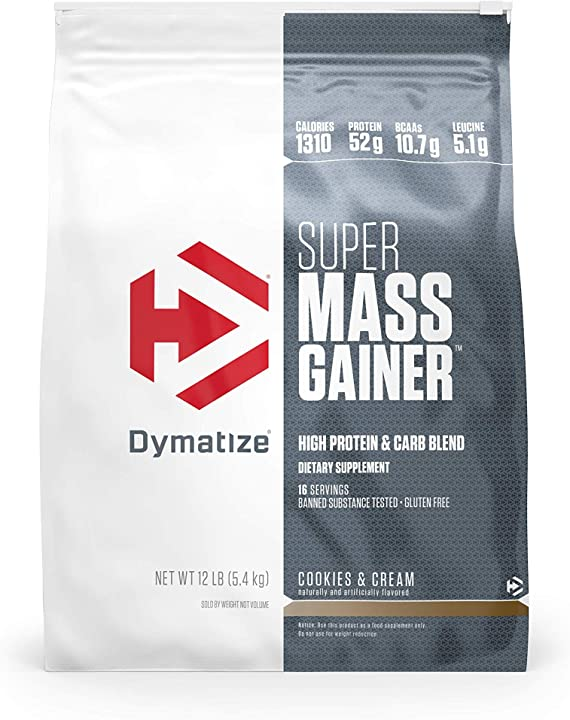 Proteine - super mass gainer bag 12 lbs (5443g) biscotto e crema - dymatize 33146A
