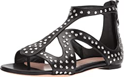 Caged Flat Sandal with Hammered Studs