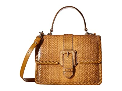 Brahmin Everett Mini Francine Satchel (Cognac) Satchel Handbags