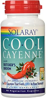 Solaray Cool Cayenne with Butcher's Broom 40000 HU Capsules, 90 Count