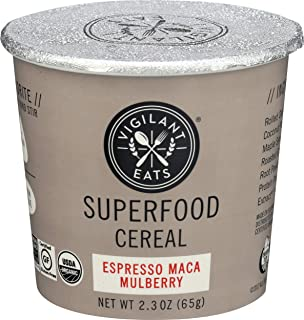 Vigilant Eats, Superfood Oat Espresso Maca Mulberry Organic, 2.7 Ounce