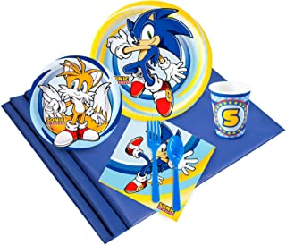 BirthdayExpress Sonic The Hedgehog Party Supplies - Party Pack for 8