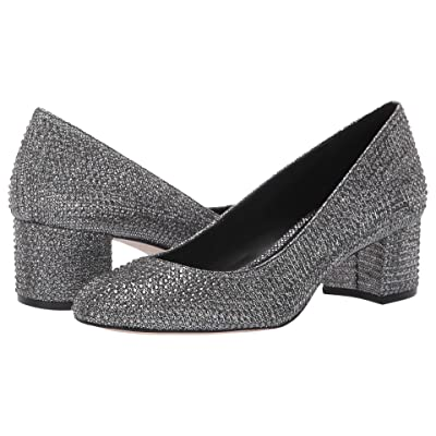 MICHAEL Michael Kors Arabella Kitten Pump (Black/Silver Glitter Chain Mesh/Hot Fix Stones) Women