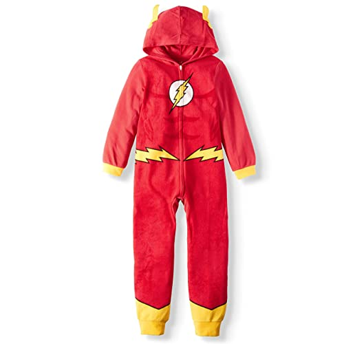 AME Boys Flash Hooded Union Suit Pajama (Large 10/12), Red
