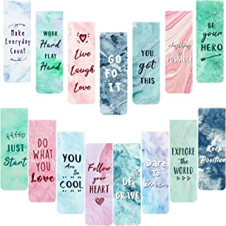30 Pieces Inspirational Quotes Marble Magnetic Bookmarks Encouraging Bookmark Positive Magnetic Page Clips Bookmarks for S...