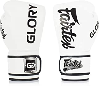 Genuine Fairtex Limited Edition GLORY BoxingGlovesGenuineLeatherBlack//GoldVELCRO