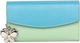 B'dazzle Women Wallet (Light Green,Sky Blue) (BD/BNS 2002LGN)