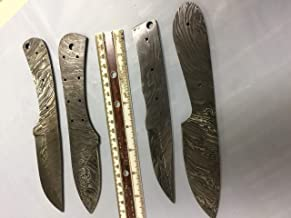 4 Pieces Set of 8 and 9 inches Long Hand Forged Damascus Steel Blank Blade Skinning Knife Set, 3 to 4 inches Cutting Edge, Compact Pocket Knife Blanks