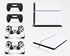 giZmoZ n gadgetZ PS4 Console Carbon White Colour Skin Decal Vinal Sticker + 2 Controller Skins Set