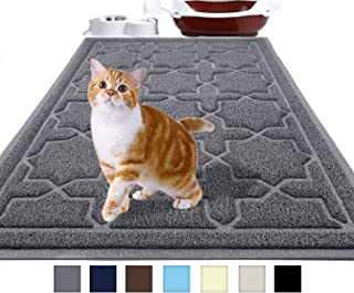 Yimobra Durable Cat Litter Mat, 35.4 x 23.6 Inches, Jumbo Traps Mats for Litter Box, Scatter Control Pets Pads, Water Resistant, Non-Slip, Soft on Kitty Paws, No Phthalate