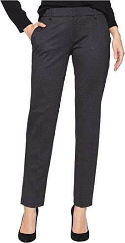 Kelsey Slim Leg Trousers in Heather Tweed Ponte Knit