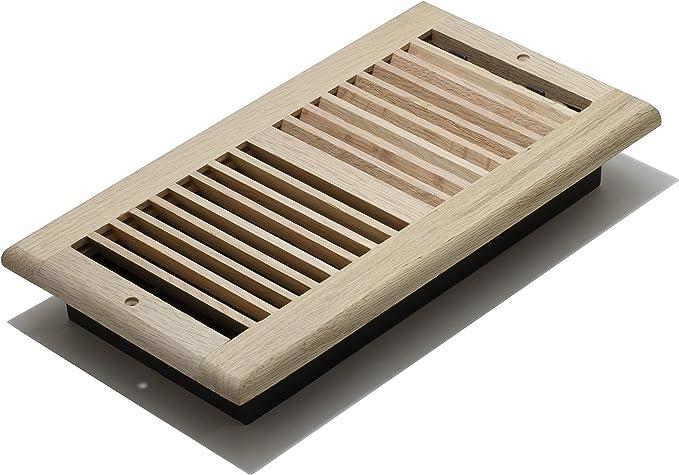 Single Unfished Oak Decor Grates WLF412-U Floor Register