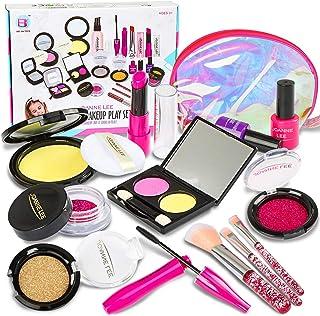 Fedio Girls Pretend Play Makeup Set Kids Make Up kit Cosmetic Makeup Toy with Cosmetic Bag(Not Real Makeup) (Pretend Makeu...