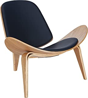 Poly and Bark Contemporary Curved Plywood Lounge Chair Natural