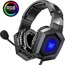 ONIKUMA Gaming Headset - Stereo K8 Gaming Headset for PS4 Xbox One, Noise Cancelling Mic Over Ears Gaming Headphones with ...
