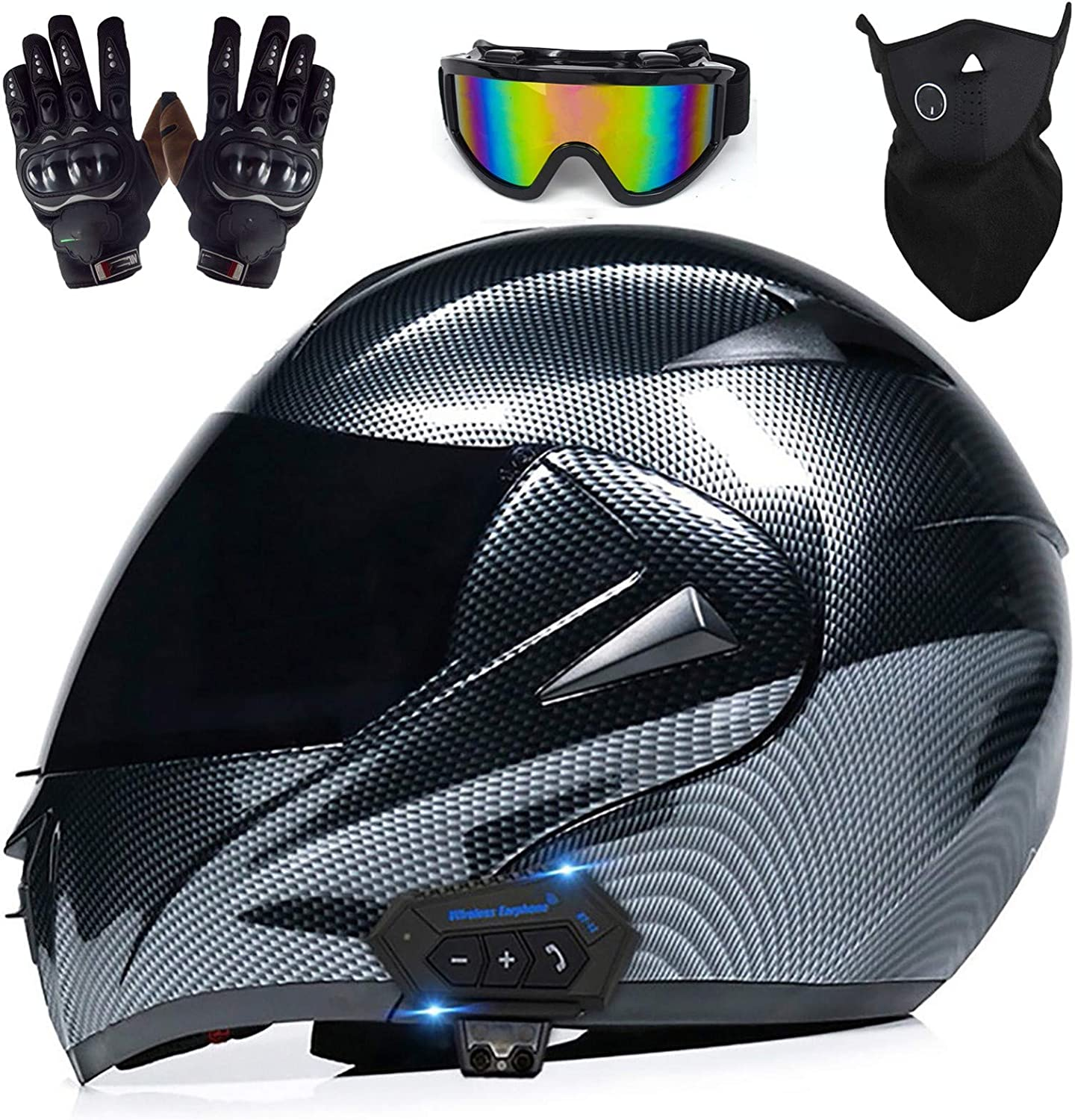 Motorcycle Bluetooth Helmet Motocross Racing Dou Street Clearance SALE Limited Choice time