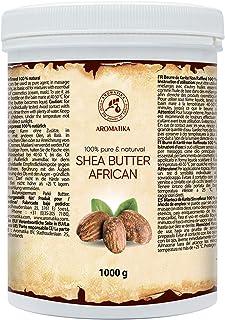 Manteca de Karité Shea 1000g - 100% Limpio & Natural - África - Ghana - Prensada en Frío - Butyrospermum Parkii - para el ...