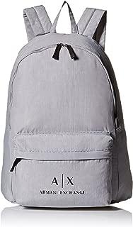 Armani Exchange Men's Crinkle Nylon Backpack, Alloy, UNI