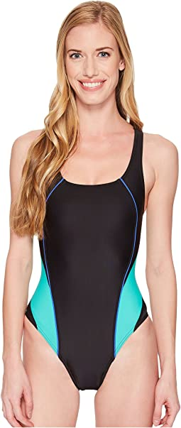 Speedo Solid Pro LT Drop Back One-Piece