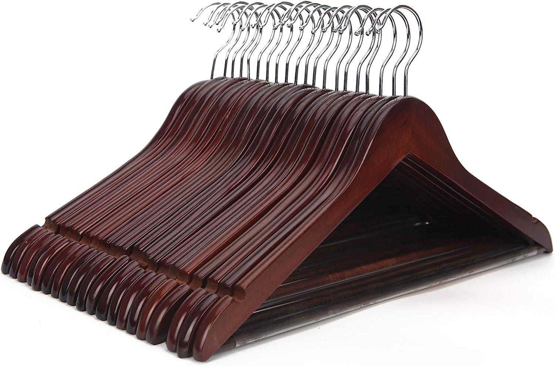JS HANGER Multifunctional High Grade Suit Hangers Max trend rank 53% OFF Solid Wooden