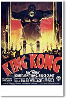 King Kong 1933 - French Movie Poster - NEW Vintage Reprint Poster