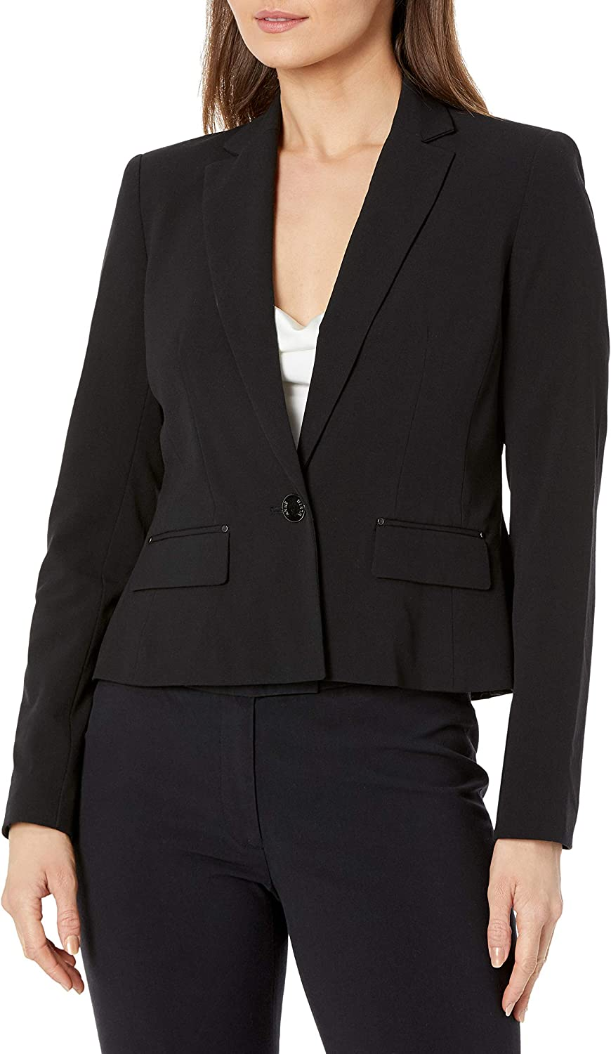 Anne Klein Women's shopping Petite Translated Single-Breasted Size Jacket One-Button