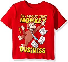 Curious George Boys' Toddler Monkey Business Short Sleeve T-Shirt