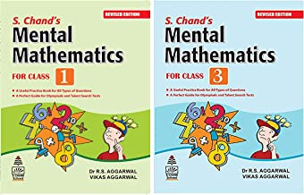 S. Chand's Mental Mathematics for Class 1 + S Chand's Mental Mathematics for Class-3 (Set of 2 books)