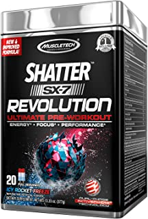 Pre Workout for Men & Women | MuscleTech Shatter SX-7 Revolution | Preworkout Energy Powder | Max Strength for Explosive E...