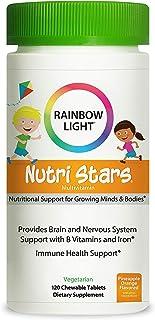 Rainbow Light–nutristars® Multivitaminas Masticables–Soporta Nutrición. inmunidad. energía. y Digestión en Kids–120Tabletas