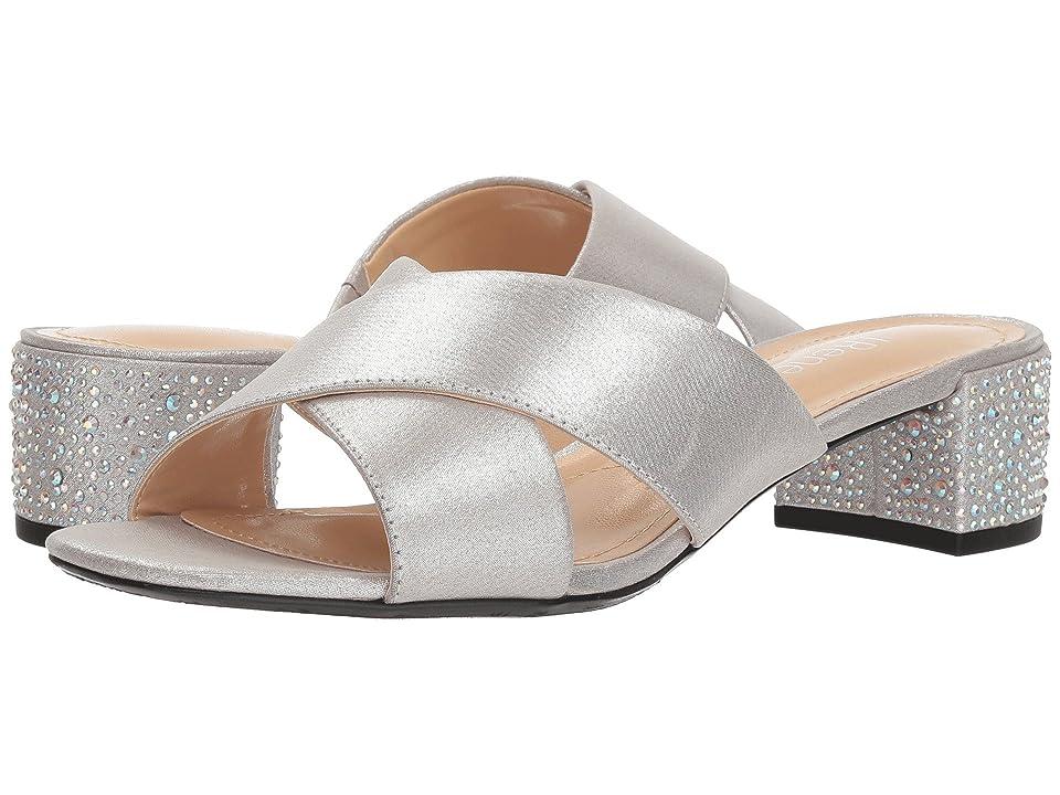 J. Renee Cindee (Silver Satin) High Heels