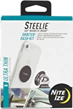 Nite Ize Steelie Orbiter Dash Mount Kit - Magnetic Cell Phone Holder for Car Dash, Low Profile, No Attached Magnets